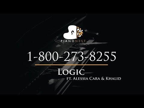 Logic - 1-800-273-8255 Ft. Alessia Cara & Khalid - Piano Karaoke / Sing Along / Cover With Lyrics
