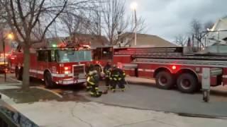Chicago Fire Dept. Equipment at Still & Box Alarm at 6100 W. Dickens [03.26.2017]