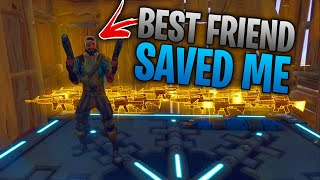 my BEST FRIEND saved me from a scammer...😰😱 (Scammer Gets Scammed) In Fortnite Save The World