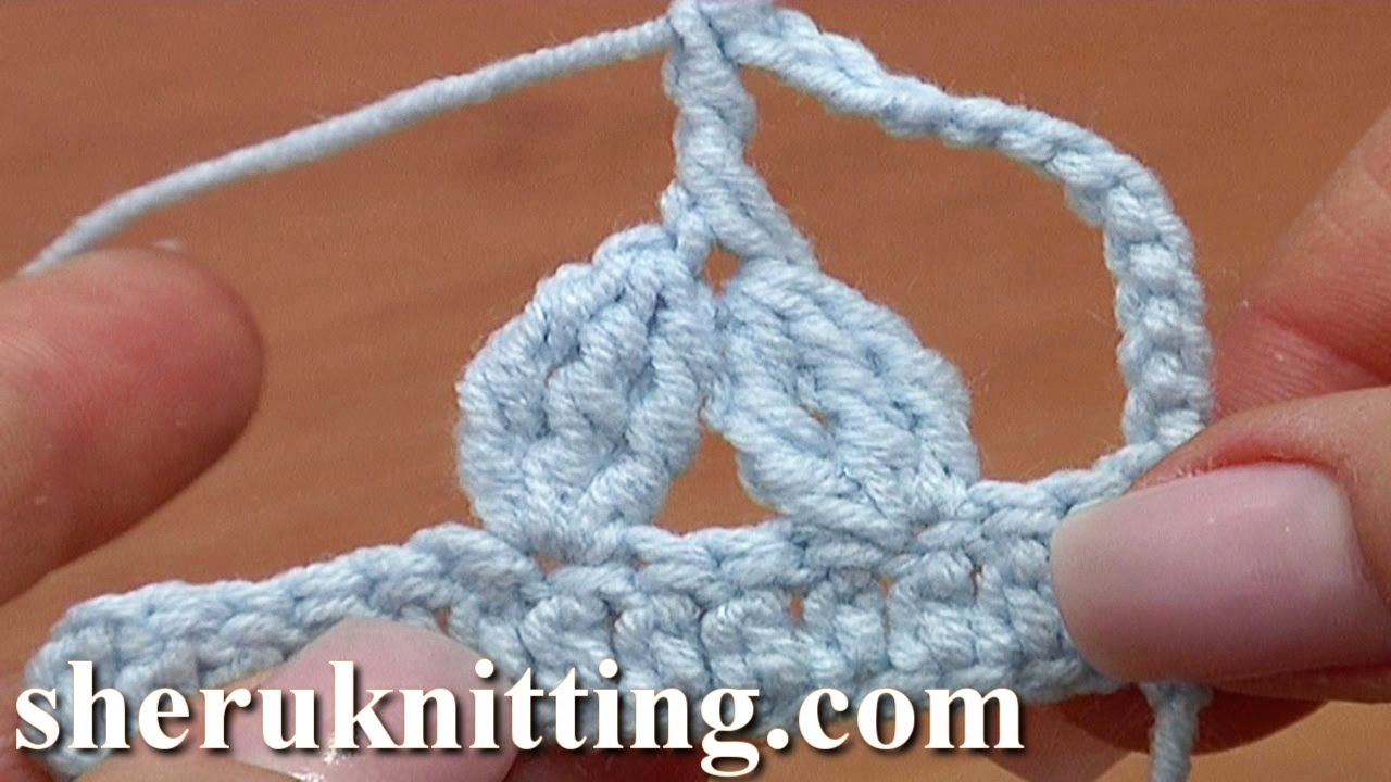 Two 3-Double Treble Crochet Clusters Together Treble Post ...