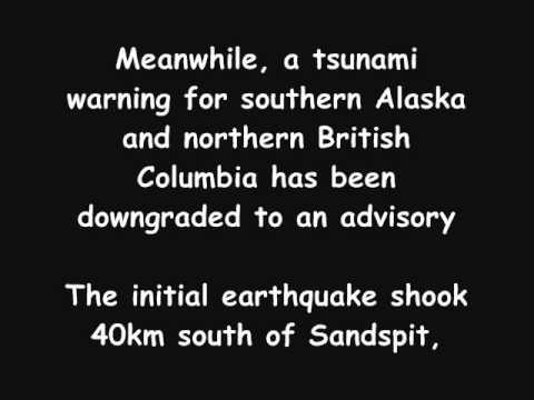 Approaching tsunami warning from Hawaii