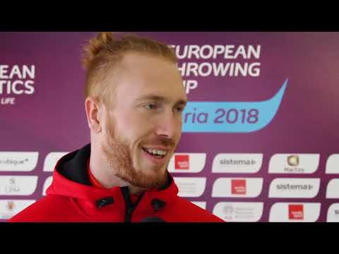 Christoph Harting at the 2018 European Throwing Cup in Leiria