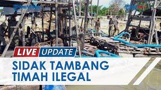 Tertibkan Penambangan Ilegal, Satpol PP Pangkalpinang Amankan 11 Penambang Timah Liar dan Alat-alat
