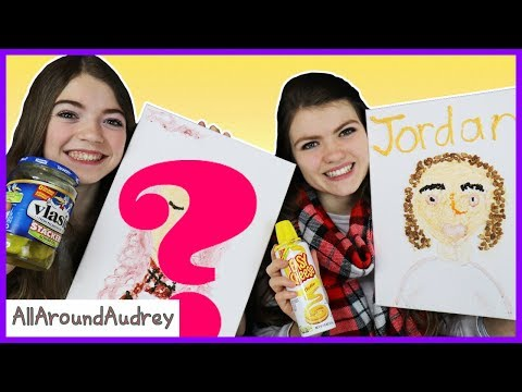 Audrey And Jordan Paint Portraits Of Each Other With Food / AllAroundAudrey