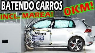 TESTE DE BATIDA DE CARROS BRASILEIROS!