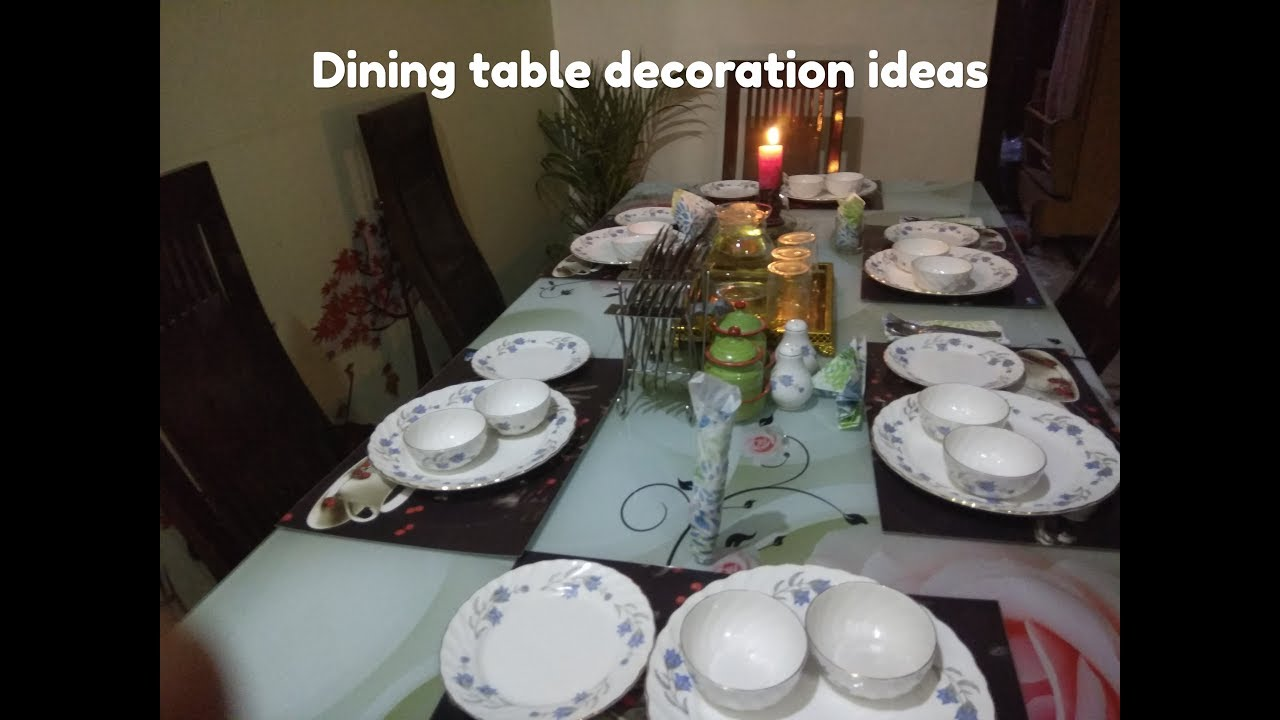 Indian Dining Table Decoration Ideas