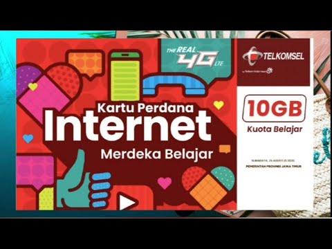 Panduan Catatan Penting Kartu Perdana Merdeka Belajar 10 Gb Dari Telkomsel Untuk Jawa Timur Youtube