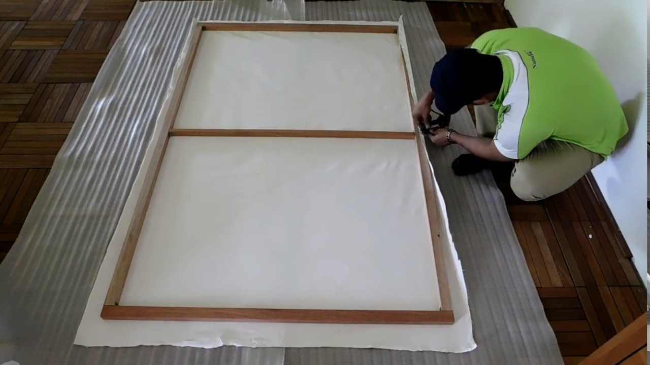 How to Make Large Canvas Without Canvas Fabric | DIY large ...