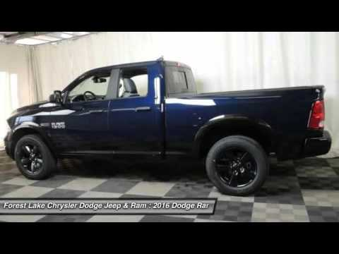 2016 Dodge Ram 1500 Outdoorsman Forest Lake MN R16040  YouTube