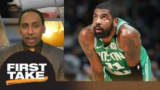 Stephen A. Smith Kyrie Irving injury threatens Celtics NBA playoff run First Take ESPN