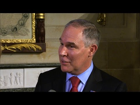 EPA Administrator Scott Pruitt on his first week on the job, climate change