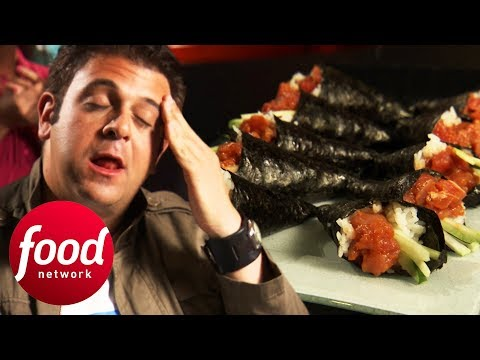 Can Adam Complete Bushido's Spicy Tuna Roll Challenge? | Man V Food