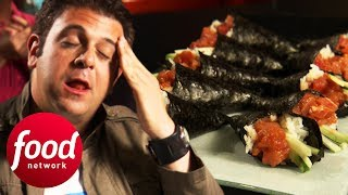 Can Adam Complete Bushido's Spicy Tuna Roll Challenge? | Man v Food