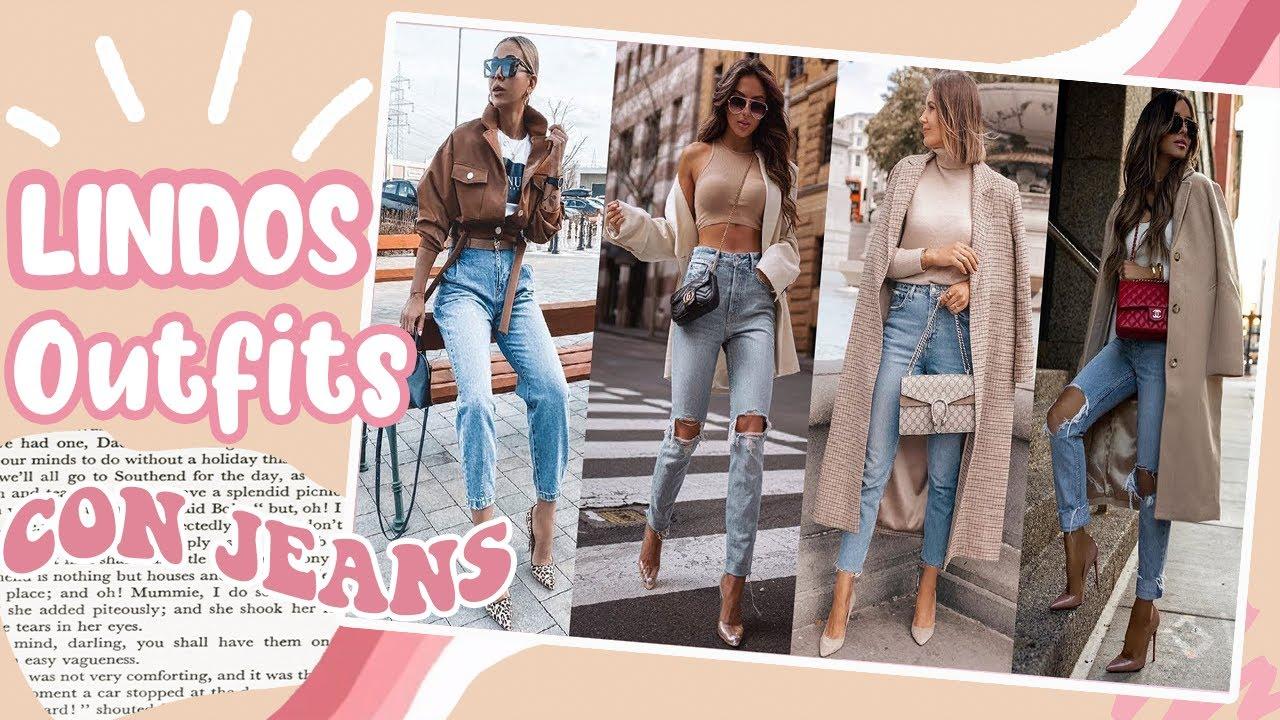 Outfits Con Jeans 2020 21 Moda Otono Invierno 2020 2021 Outfits Con Pantalones De Mezclilla Youtube