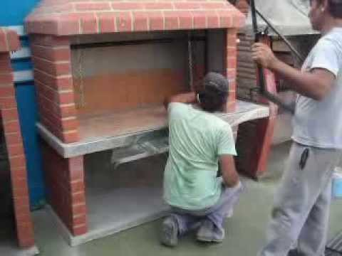 Armado de parrilla premoldeada 2da parte karilo youtube for Parrilla de material para casa