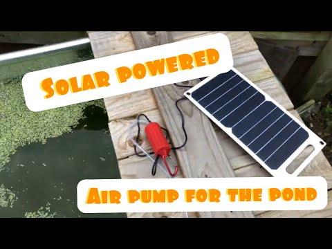 Solar Power Air Pump For The Pond