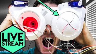 They Wink! | Blinking Iris Goggles | Live Stream