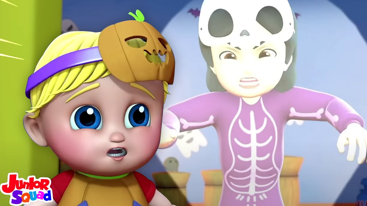 Ciluk ba | Sajak halloween |  Bayi sajak | Junior Squad Indonesia | Video prasekolah