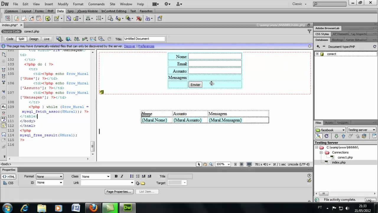 PHP WITH DREAMWEAVER PDF DOWNLOAD