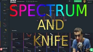 Opening Spectrum and Knife cases on OPENCSGO + KNIFE GIVEAWAY