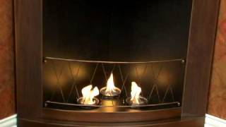 Sei Copper Finish Corner Gel Fireplace Fa5835
