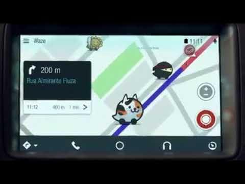 Novo Chevrolet Onix 2018, my link espelhando Waze GPS