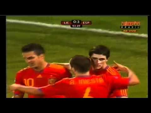 Liechtenstein vs Spain (0-4) - HIGHLIGHTS - Euro 2012 Qualification - 03.09.2010
