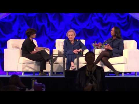 Former Secretaries of State speak at women's conference