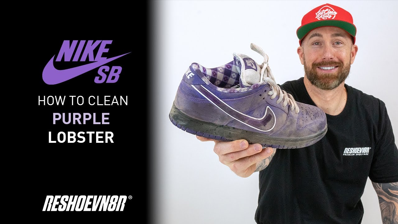How to clean Nike SB Purple Lobster