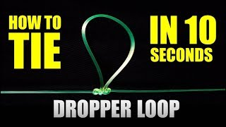 FASTEST DROPPER LOOP and PATERNOSTER RIG   How to tie Fishing Knots   Fastest and Easiest way