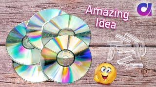 Best out of waste Pen Caps & old cd crafts ideas | Project ideas | Artkala