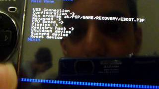 how to go on recovery menu on a psp 3000