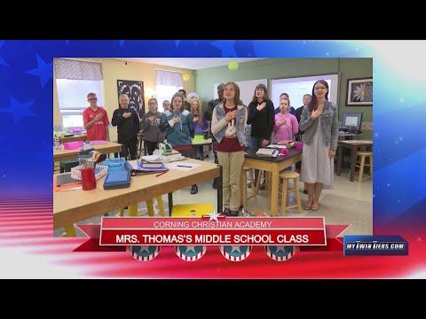 December 10, 2019 - Corning Christian Academy - Mrs.Thomas's - Middle School class