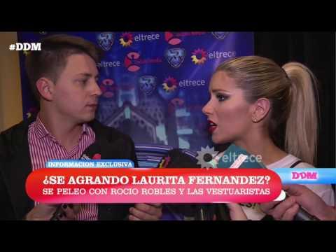 ¿Se agrandó Laurita Fernández? Se peleó con Rocío Robles y las vestuaristas