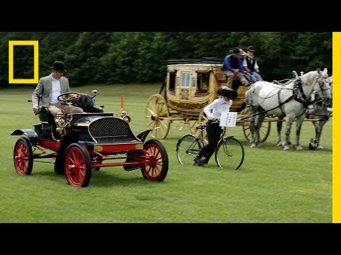 Horses Vs. Horsepower: Watch Historic Rides Race Each Other | National Geographic