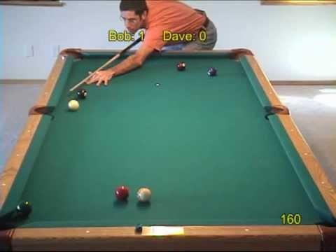 Pool and billiards safety challenge game and drill, from VEPP V (NV C.17)