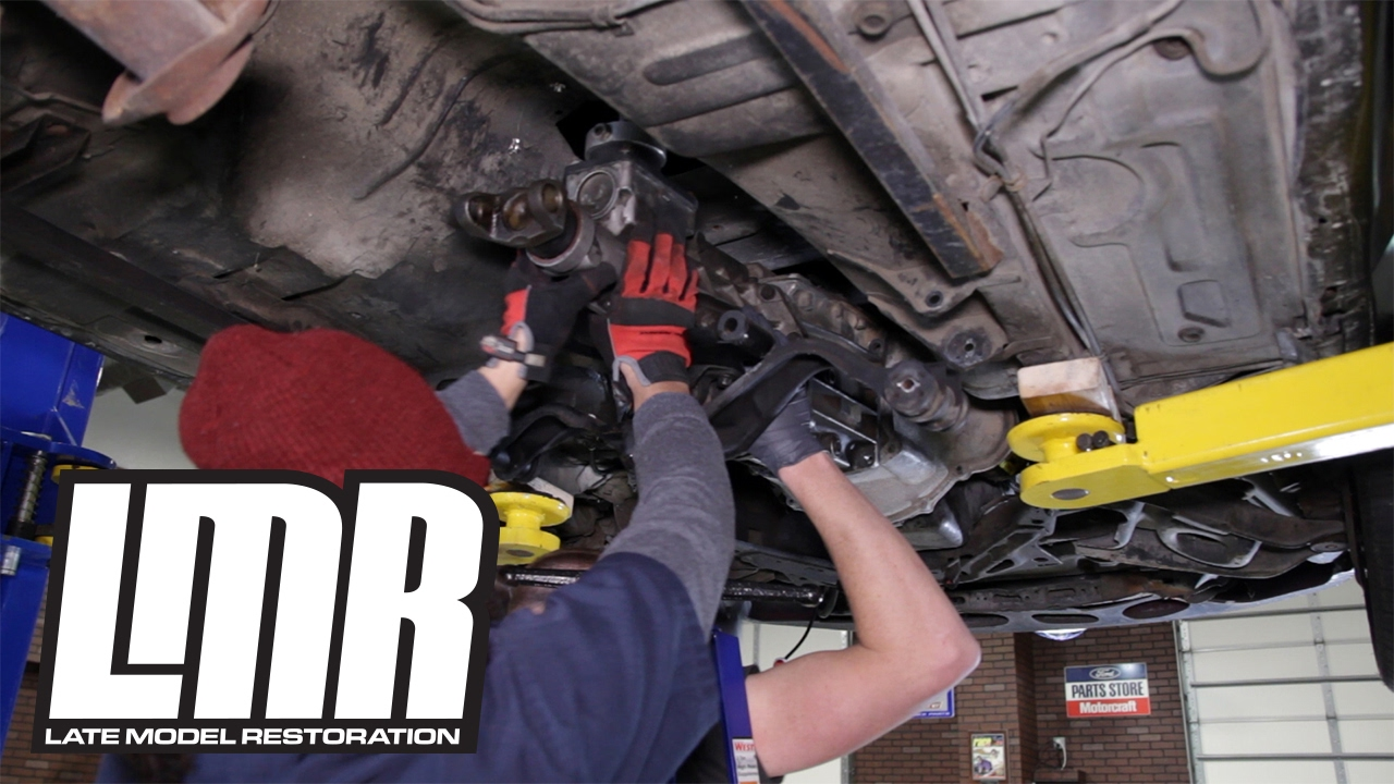 how to: mustang aod to t5 transmission swap - part 5 (1984-1993) - youtube