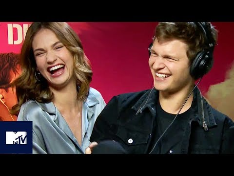 BABY DRIVER  Ansel Elgort And Lily James Play The Whisper Challenge  MTV Movies