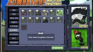 How to make a Zombie Avatar on plants vs zombies
