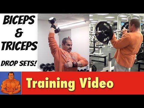 Biceps & Triceps Drop Set Workout (train to failure & beyond)