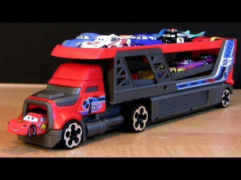 Hot Wheels Rapid-Fire Launcher Blastin' Rig Semi-Truck Using Disney Pixar Cars 2 Toys Hauler