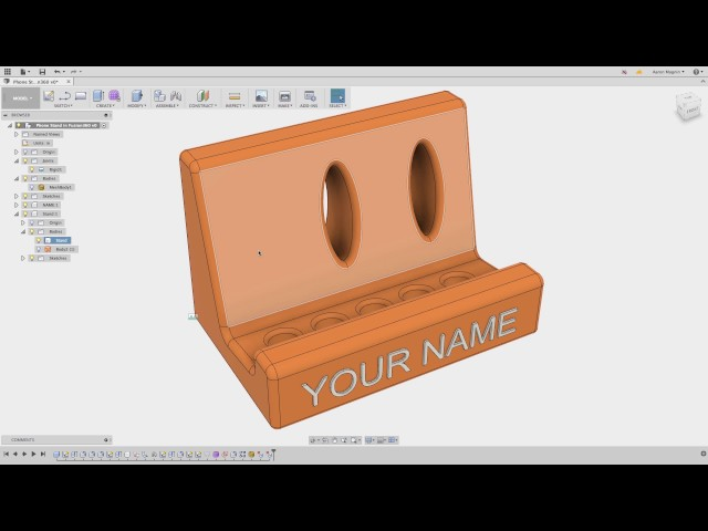 Fusion 360 for 123D -7 - Direct Editing in Fusion for 123D users