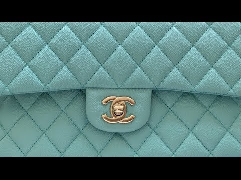 1587186c5186 Chanel Tiffany Blue Classic Flap bag unboxing | CRUISE 2019 | Chanel La  Pausa