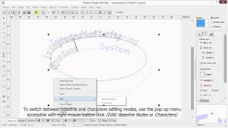 Lettering in Embird Digitizing Studio - Part 1 - Text on circle and ellipse