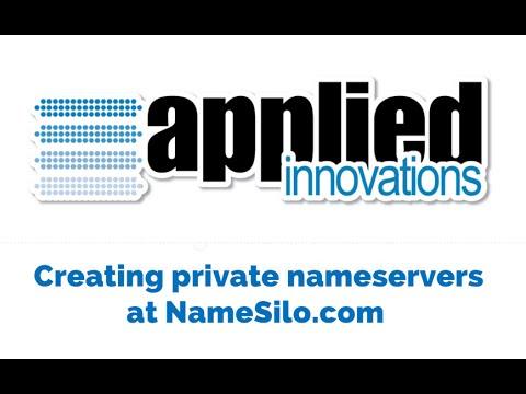 Creating Private Nameservers at NameSilo.com