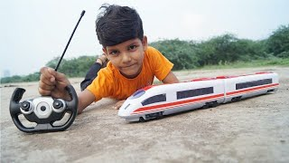 Kids Play With RC Bullet Train unboxing & testing with Remote Control