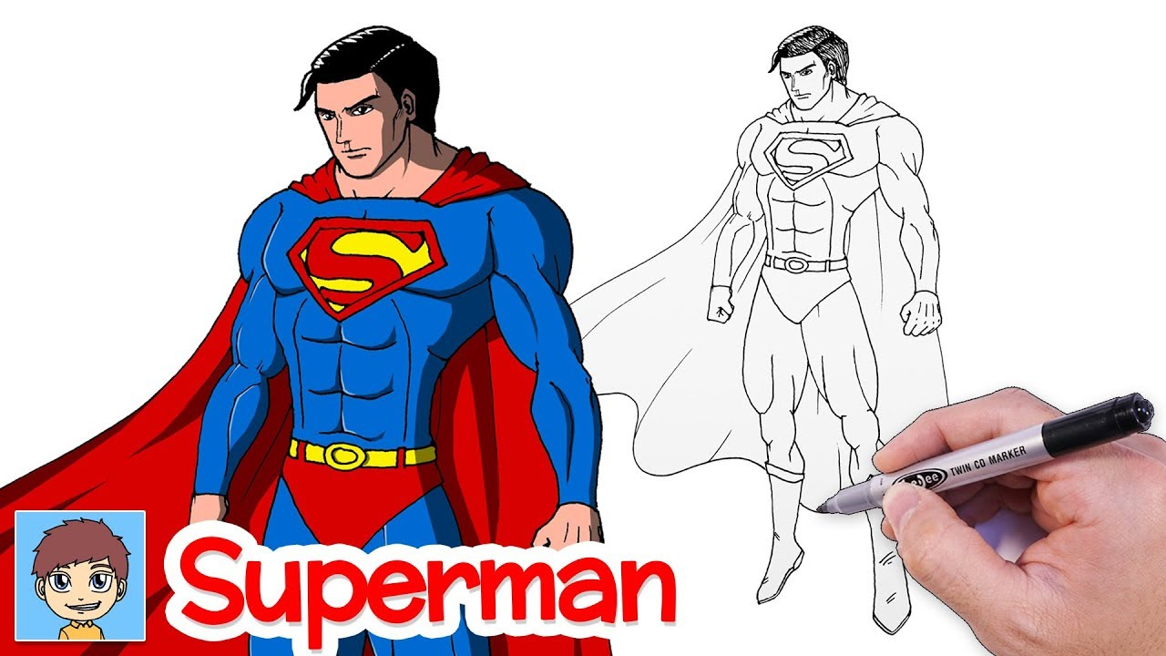 Comment Dessiner Superman Facilement Dessin Facile Youtube