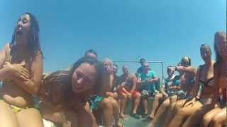 Repeat youtube video Crazy Boat Ride, Kavos 2012