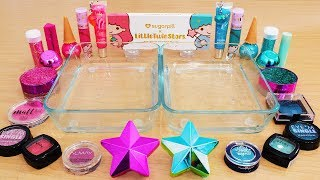 Pink vs Teal - Mixing Makeup Eyeshadow Into Slime Special Series 231 Satisfying Slime Video