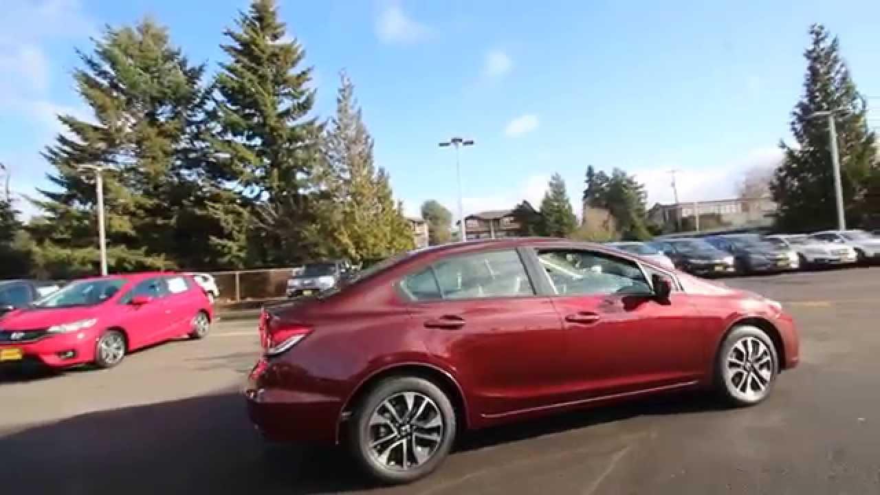 Honda Of Seattle >> 2015 Honda Civic EX | Crimson Red | FH518292 | Seattle ...